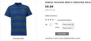 Polo Sergio Tacchini à seulement 8,99 euros (port inclus)
