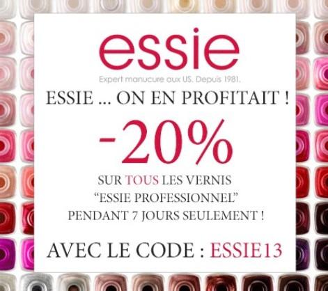 Promo Manucure Beauté : Jusqu'à – 50 sur les vernis Orly / code promo -20% vernis ESSIE Pro / code promo 5% sur tout.