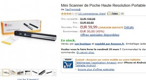 Promo Mini Scanner de Poche 900 DPI à seulement 59,99 euros (port inclus)