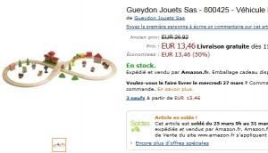 Soldes petit Train en bois Gueydon à seulement 13,46 euros au lieu du double