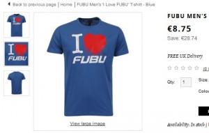 T-Shirt Fubu pour moins de 8 euros (port inclus)
