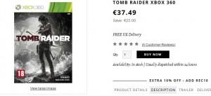 Tomb Raider Xbox 360 à moins de 35 euros (port inclus)