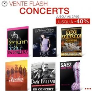 Vente flash sur les concerts chez Fnac Spectacles