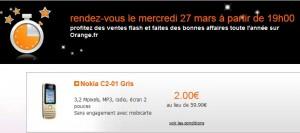 Vente Flash Téléphone portable à 2 euros (Sans engagement/Mobicarte)