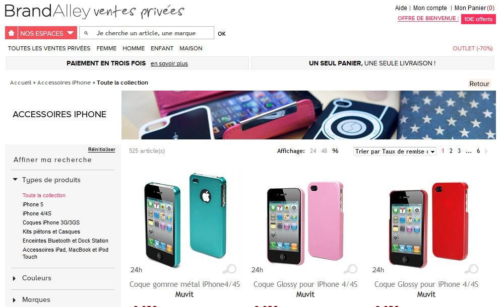 Moins 90 sur accessoires iphone vente priv e - Vente privee com contact telephone ...