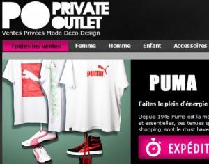 Vente Privée Puma jusqu'à lundi matin chez Private Outlet