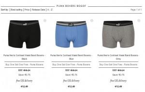 1 boxer Puma acheté = 1 boxer offert