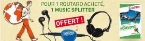 1 guide Routard acheté = 1 Musique Répartiteur/splitter