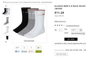 10,13 euros le lot de 3 paires de chaussettes Ellesse (port inclus)