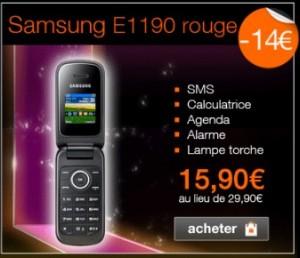 Samsumg E1190 à seulement 15,90 euros