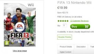 20 euro FIFA 13 pour Nintendo Wii