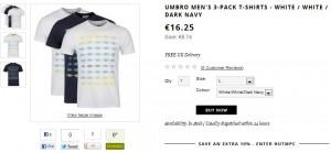 3 T-shirts Umbro pour moins de 15 euros (livraison gratuite)