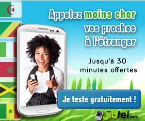 30 minutes appel international gratuit