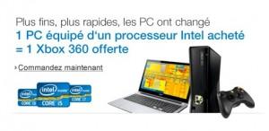 1 PC portable acheté = 1 console Xbox 360 gratuite