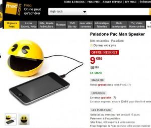 9,95 euros enceinte Pacman Paladone pour lecteurs Mp3, Smartphones