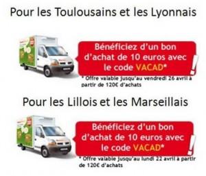 Auchan Direct : 10 euros offerts ou livraison offerte