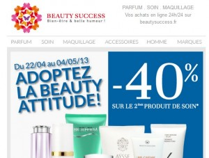 produits de soin Beauty Success.