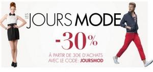 Code promo moins 30 pourcents sur la mode chez Amazon