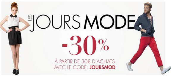 plus que 2 jours code promo 30 sur la mode chez amazon. Black Bedroom Furniture Sets. Home Design Ideas