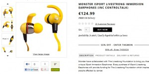 Ecouteurs intra-auriculaires MONSTER iSport 56,99 euros (port inclus)