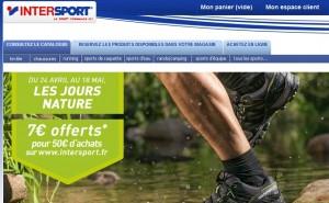 Intersport moins 7 euros pour 50 euros d'achats