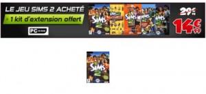 Jeu Sims 2 Acheté = 1 Kit d'Extension gratuit