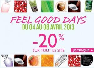 Moins 20% sur tout le site Body Shop