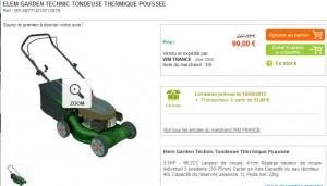Moins de 100 euros la Tondeuse Thermique