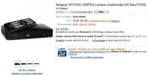 Moins de 60 euros le lecteur multimédia Netgear HD