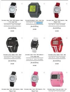 18,75 euros la montre Converse aux choix (port inclus)