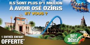 Parc Asterix 1 entree enfant gratuite pour 2 entrees adultes