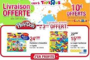 Play-Doh : 2 achetés = 3ème GRATUIT + livraison gratuite + 10 euros en bon achat