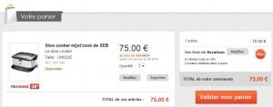 Promo Mijoteur Mijot'cook SEB à 75 euros (port inclus)
