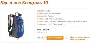 Sac à dos Sportbag 10