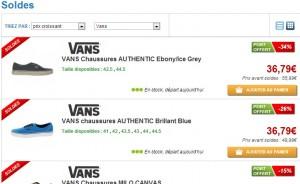Soldes Vans Authentic