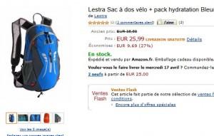 Vente flash Sac à dos vélo Lestra avec pack hydratation