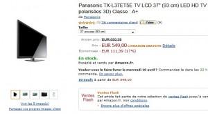 vente flash Téléviseur LED 3D / Wi-Fi Panasonic 37