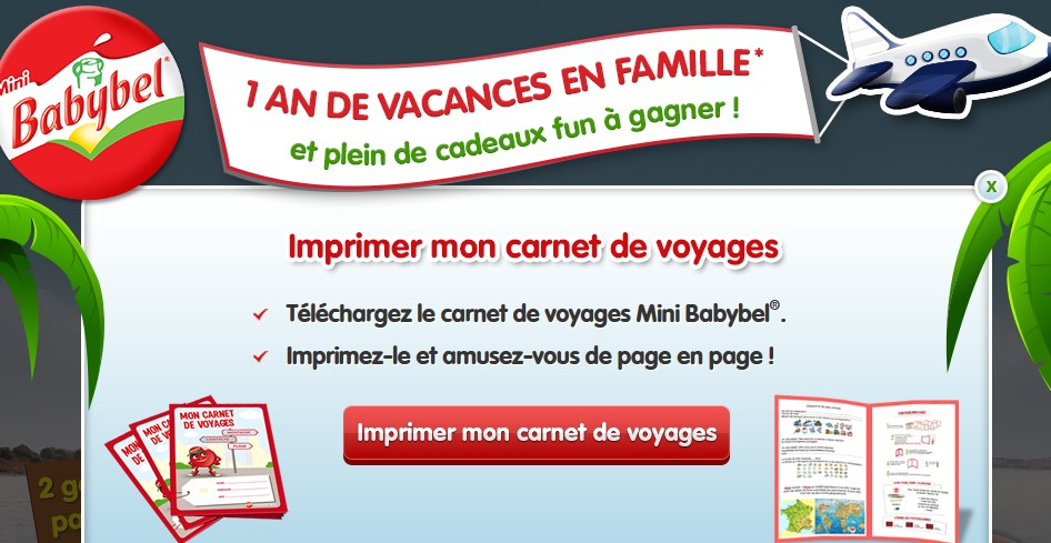 carnet de voyages gratuit babybel. Black Bedroom Furniture Sets. Home Design Ideas