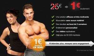 Coaching Musculation en ligne à 1 euro/mois au lieu de 25 euros Fysiki