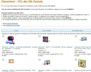 Code promo -15% sur les jeux et puzzles Clementoni