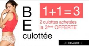 2 culottes achetées = 1 gratuite