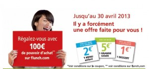Coupons de reduction Flunch