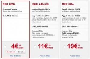 forfait moins 5 euros SFR