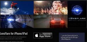 Gratuit Appli iPhone and iPad effet facteur de flare (lens flare)