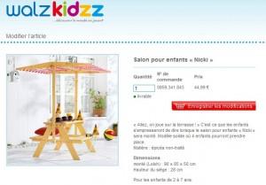 Moins de 45 euros le Salon en bois pour enfants (port inclus)