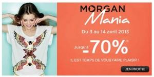 Réductions jusqu'à moins 70% sur Morgan (livraison gratuite)