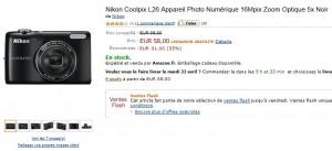 Appareil Photo Nikon Coolpix L26 16Mpix