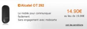 15 euros le téléphone Alcatel OT 292 sans engagement