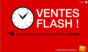 vente flash FNAC