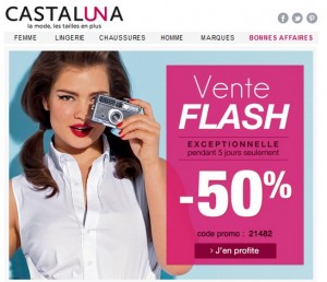 vente flash castaluna moitie prix avril